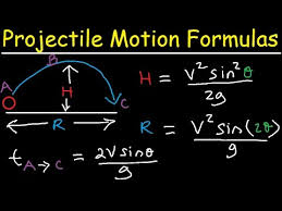 projectile motion introduction formulas equations to solve  projectile motion introduction formulas equations to solve physics problems