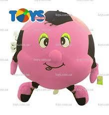 """Надувная <b>мягкая игрушка</b> """"<b>Футбольный</b> мяч"""", 35 см, розовый ..."""