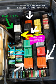 1994 e36 m3 fuel pump relay issues fuse box pins thread 1994 e36 m3 fuel pump relay issues Fuse Box Pins