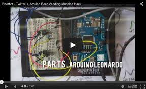 Arduino Vending Machine Interesting Beerbot Twitter Arduino Beer Vending Machine Hack WIZnet Museum
