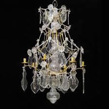 a swedish rococo 18th century six light chandelier