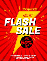 sale flyers flash sale flyer template postermywall