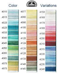 Dmc Variations Colors Variations Color Chart