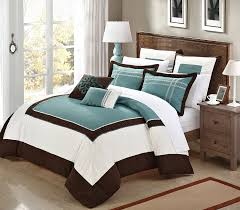 teal brown and white bedroom a best ideas about bed on wall dacor