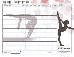 Gymnastic Chore Chart Gymnastics Skills Behaviour Chart