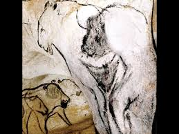 end chamber hanging rock of the sorcerer chauvet cave france c 32 000 30 000 bce