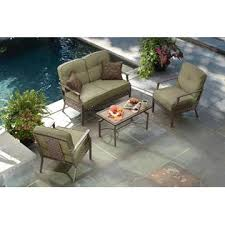 La Z Boy Outdoor Parker 4 Piece Seating Set Limited Availability