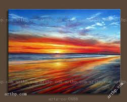 art contemporary hand painted oil painting on canvas sunset beach house painting western decor stickers modern