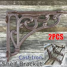 2pcs shelf bracket floating wall mounted hook brace cast iron countertop support