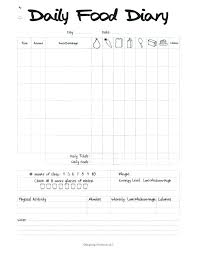 Food And Exercise Diary 7 Day Food Diary Template Kierralewis Com