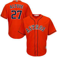 Houston Official Altuve Youth Jose Player Jersey Cool Orange Astros - Base|COHEN'S Corner Sports