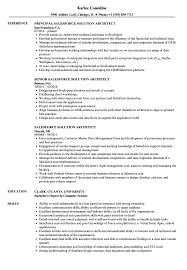 Salesforce Resume Sample Salesforce Solution Architect Resume Samples Velvet Jobs 8