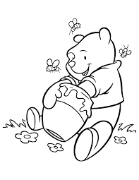 Small Picture Pooh Bear Coloring Pages glumme