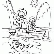 Small Picture Fathers Day fishing Printable Coloring Pages B and Fish