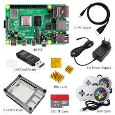 Raspberry Pi 4 Model B PI 4B Board+Heat Sink+Power Adapter+ ...