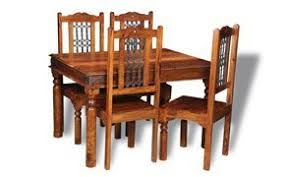 indian dining room furniture. Jali Indian Furniture 120cm Dining Table And 4 Wood Chairs - Room