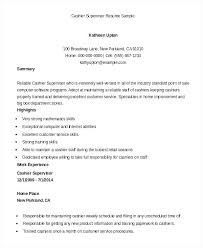 Cashier Customer Service Resume Sample And For A Examples Retail