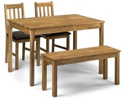 moor oak dining table bench set