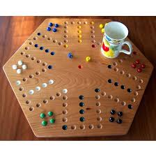 Game With Wooden Board And Marbles Cherry Wood Aggravation Board Game 26