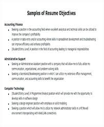 Job Objectives Resume Sample Objective For First Good Resumes In
