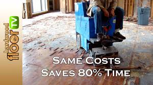 remove glued hardwood from concrete for homeowners too