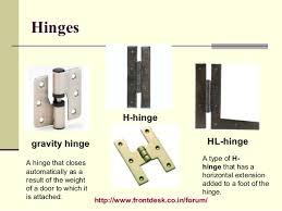 types of hinges. 5. types of hinges n