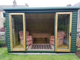summer house with bi folding doors