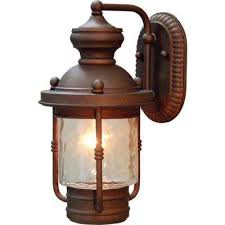 1 light burnished bronze outdoor wall mount