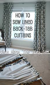 tutorial how to sew lined back tab curtain panels dry panels ds