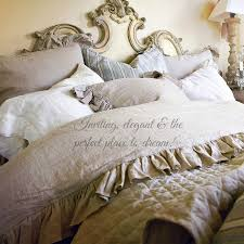 romantic charlie anic linen duvet cover pompom country journal duvet set french