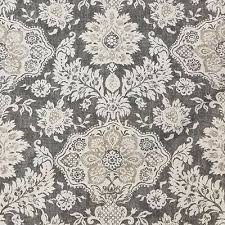 Damask Tie Belmont Metal Gray Floral Damask Tie Up Valance Lined Ebay
