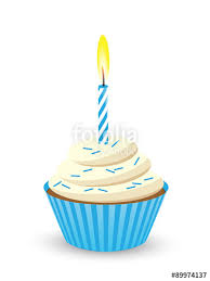 birthday cupcake candles blue. Perfect Candles Birthday Cupcake With One Candle Blue Inside Candles Blue