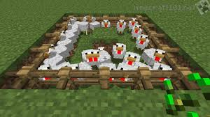 how to make a fence in minecraft. A Basic Chicken Farm How To Make Fence In Minecraft