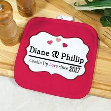 personalized cooking gifts personalized cooking up love pot holder personalized couple gifts personalised cooking gifts uk