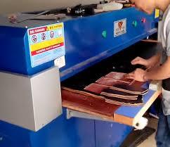 hydraulic leather cutting machine