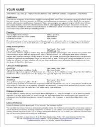 Nanny Job Resume Example Featuring Qualifications And Child Care