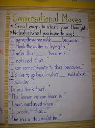 Book Talk Anchor Chart An In Depth Chart Identifying Conversation Connectors For