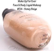 make up for ever face body liquid makeup