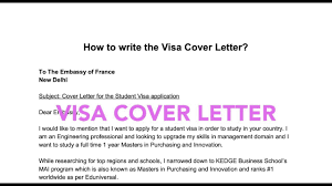 Visa Application Cover Letter How To Write A Visa Cover Letter Student Long Stay