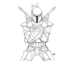 Star Wars Coloring Pages Of Boba Fett Action Coloring Pages Movie