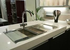 white artificial quartz stone kitchen countertops side polished eased edge