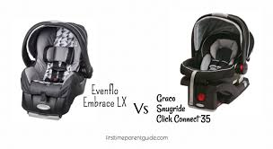 the evenflo embrace lx vs graco snugride