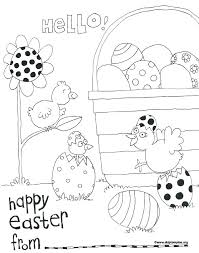 Happy Easter Coloring Page A Pile Of Smiling Eggs Happy Easter