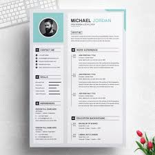 Professional Resume Templates 2013 One Page Clean And Professional Resume Design Template Ms Word Apple Pages Cover Letter