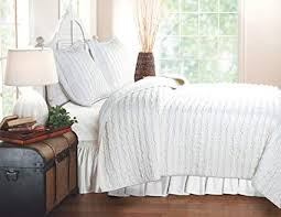 white quilt king. Brilliant Quilt Greenland Home Ruffled White Quilt Set King In