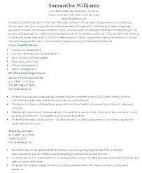 Sample Resume For Teachers Assistant Assistant Teacher Resume Sample