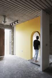 stylish track lighting. Track Lighting Roofing Sheet And Concrete Blocks Shape A Stylish Entry