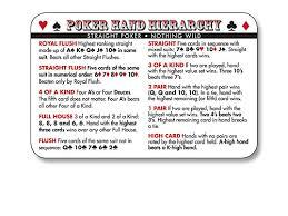 Printable Poker Hands Chart Printable Chart Of Poker Hands Online Casino Portal