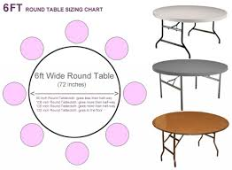 what size tablecloth for 6ft round table tableclothsforless regarding what size tablecloth for 72 round table