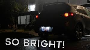 2011 Mazda 3 License Plate Light Brightest Led License Plate Lights Mazdaspeed 3 Led Install